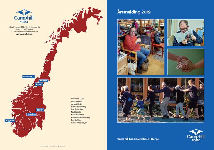Kart over Camphill landsbyene i Norge og bilder fra verksted, leser av LandsbyLiv